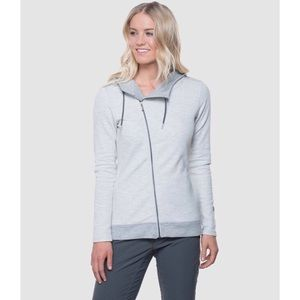 KUHL Ivory Arva Asymmetrical Zip Sweater Hoodie